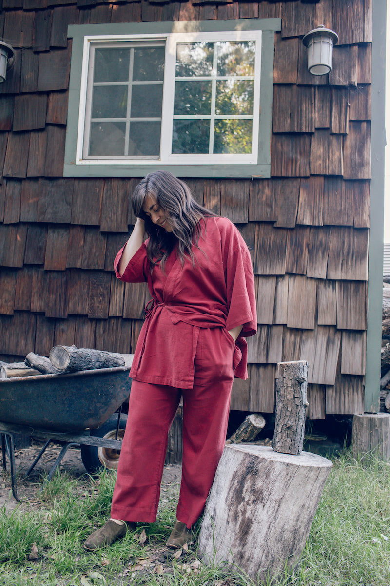 Ruby Red Two-Piece Loungewear Set