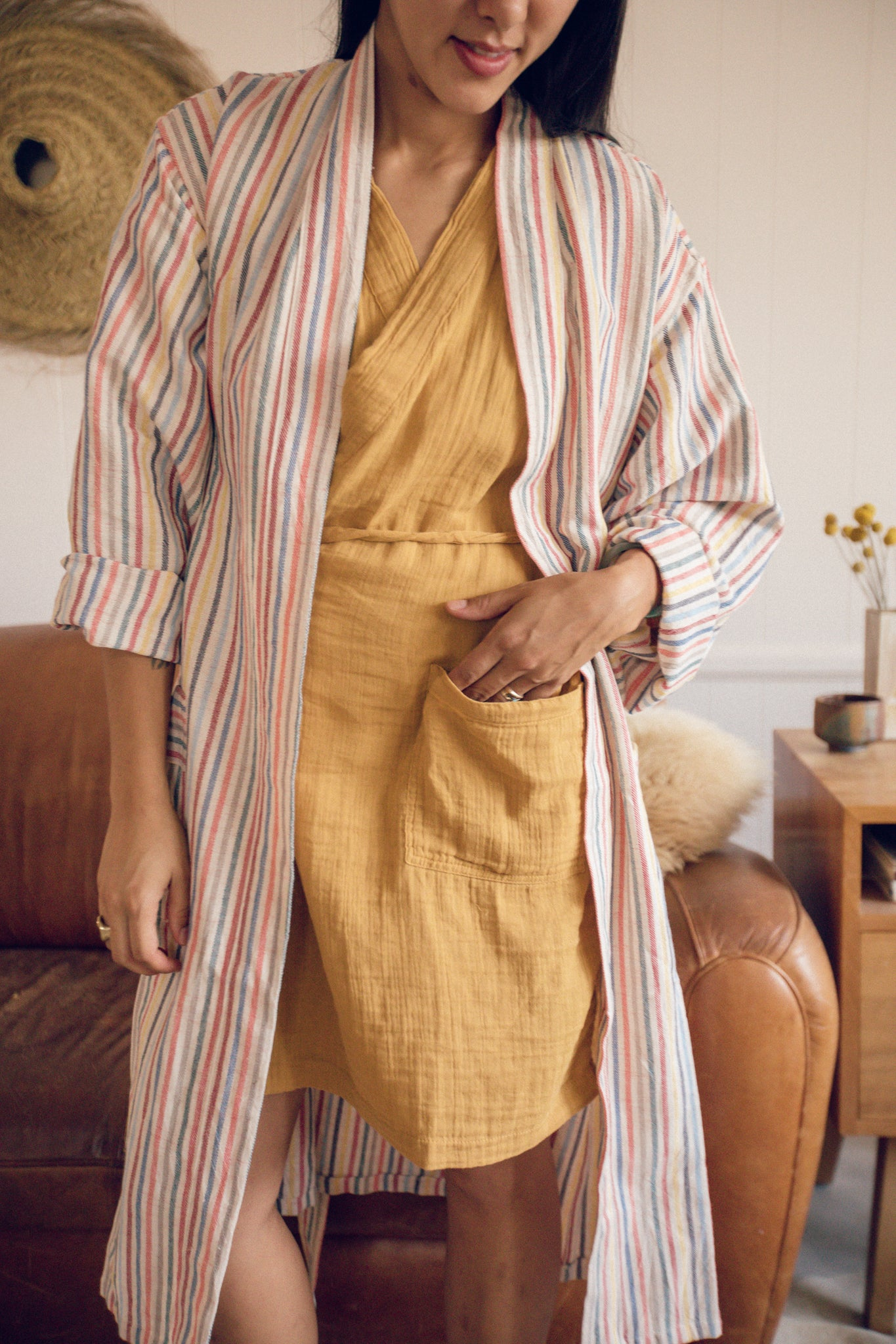 Winter Rainbows Handwoven Robe