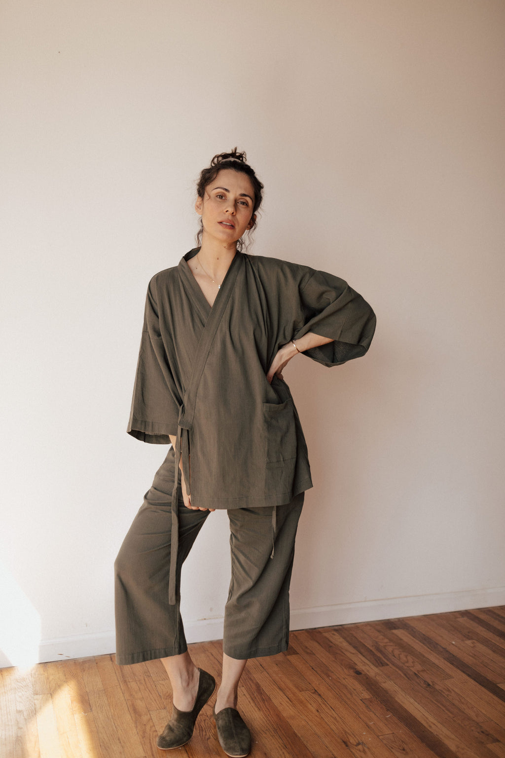Sile Cloth Two-piece Loungewear Set