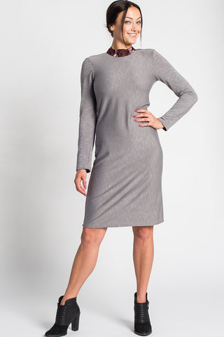 Duno Mock Neck Dress