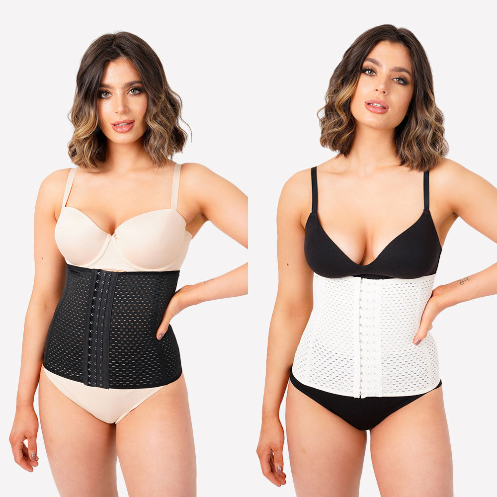 Pack of 2 - Everyday Waist Trainer - Black and Nude