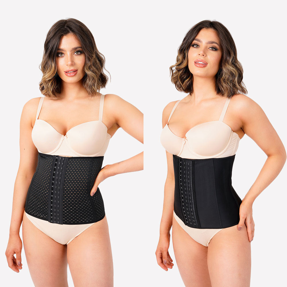 Pack of 2 - Everyday and Latex Waist Trainer - Black