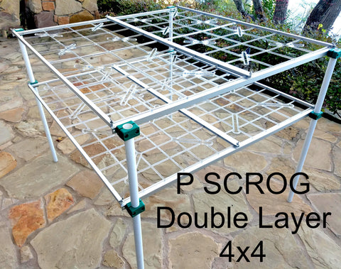 P SCROG Double Layer 4x4 Kit w/Leg Clamps (SAVE 10%)