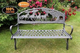 Solid Cast Iron Bench - Horses & Countryside - Coast & Country Store - 2