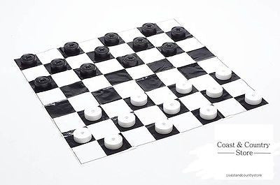 Giant Garden Draughts Set - Outdoor or Indoor Games - Coast & Country Store - 1