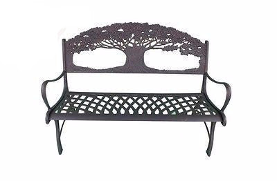 Solid Cast Iron Bench - Oak Tree - Coast & Country Store - 1