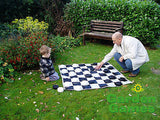 Giant Garden Draughts Set - Outdoor or Indoor Games - Coast & Country Store - 3