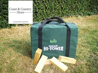 Giant Jenga Mega Hi-Tower & Canvas Bag - Wooden Blocks - Coast & Country Store - 1