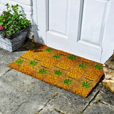 Pineapples Galore Fun Design Coir Brush Doormat 75 x 45cm