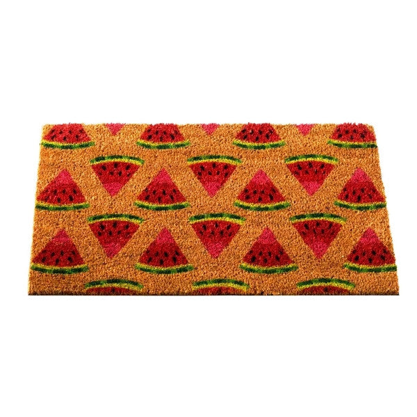 Watermelon Fun Design Coir Brush Doormat 75 x 45cm