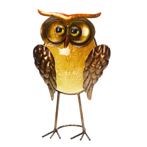ORLA Glass and Metal Wire OWL Bird Garden Ornament - Indoor or Outdoor - Coast & Country Store - 1