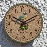 "Outside In Blue Tit Garden Wall Clock 8"" - Coast & Country Store - 2"