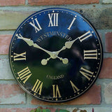 "Westminster Tower Outside In Garden Wall Clock 30cm / 12"" - Black Roman Numeral - Coast & Country Store - 2"