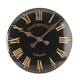 "Westminster Tower Outside In Garden Wall Clock 30cm / 12"" - Black Roman Numeral - Coast & Country Store - 1"