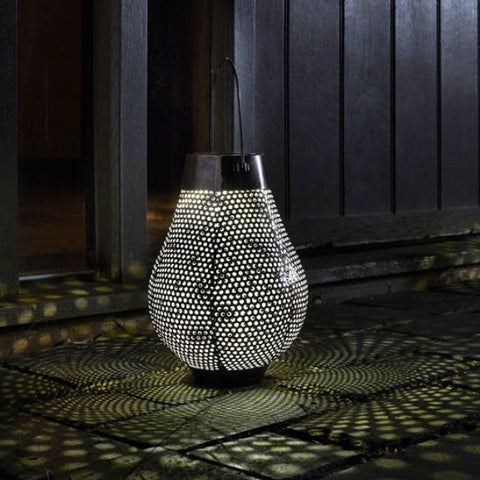 Aswan LED Silhouette Lantern Solar Power Contemporary Design - Coast & Country Store - 1