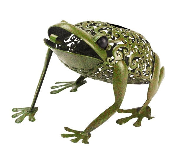Silhouette Frog Garden Lantern Deocrative Ornament - Smart Solar LIght - Coast & Country Store - 2