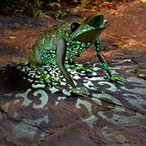 Silhouette Frog Garden Lantern Deocrative Ornament - Smart Solar LIght - Coast & Country Store - 1