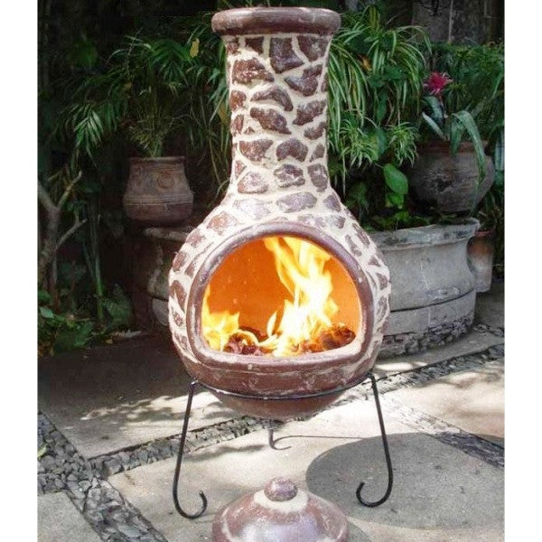 Cantera Earth Extra Large Clay Chiminea Chimenea Log Wood Burner Patio Heater - Coast & Country Store