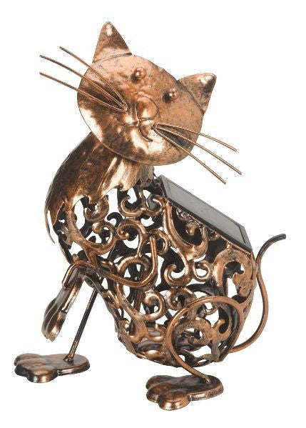 Silhouette Cat Garden Lantern Decorative Ornament - Smart Solar Light - Coast & Country Store - 1