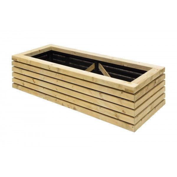 Large Contemporary Wooden Trough Planter - Fully Assembled 120cm