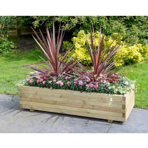 FSC Large Wooden Trough Planter - Coast & Country Store - 1