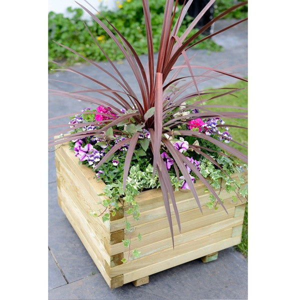 FSC Large Wooden Square Planter - Coast & Country Store - 1