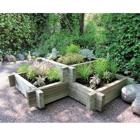 FSC Wooden Corner Planter - Coast & Country Store - 1