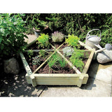 FSC Wooden Herb Wheel Planter - Coast & Country Store - 1