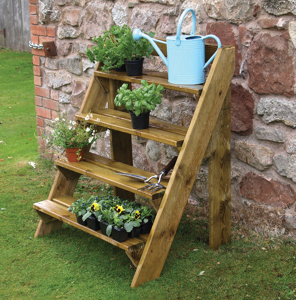 FSC Wooden Step Planter - Coast & Country Store