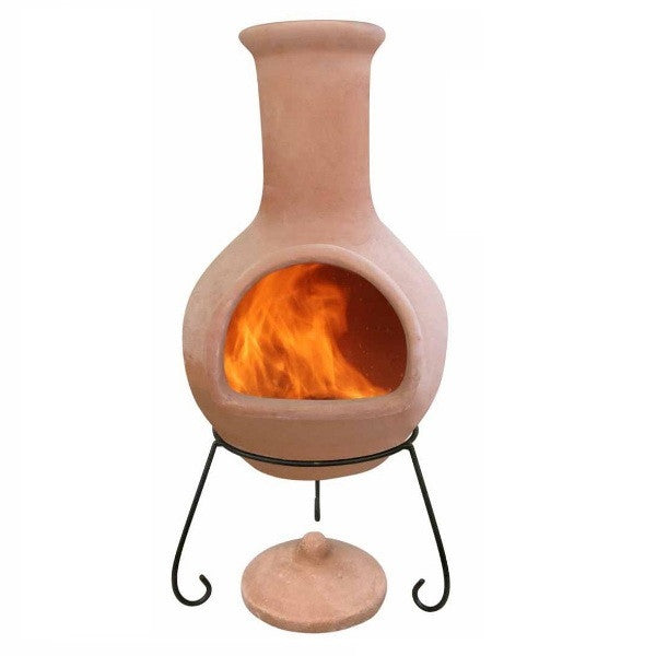 Extra Large Mexican Clay Terracotta Chiminea - Colima - Coast & Country Store - 1