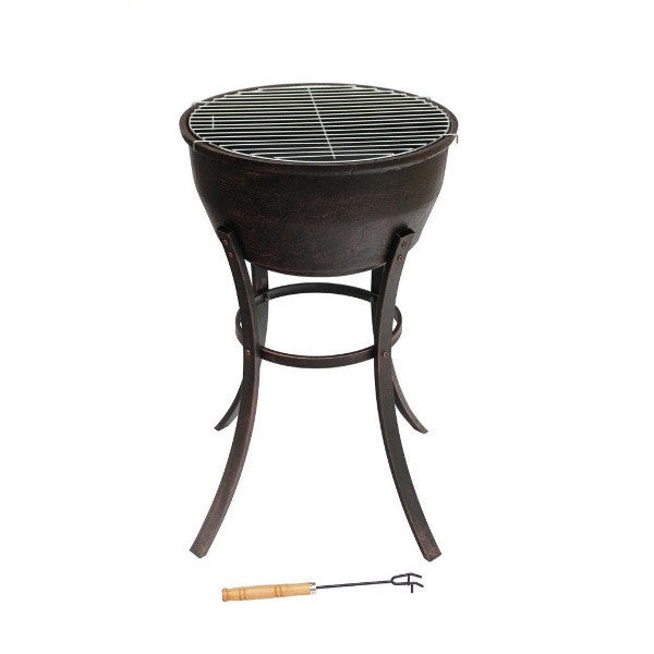 Elidir Tall Cast Iron Fire Pit / Bowl & BBQ Grill - Coast & Country Store