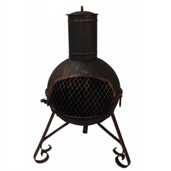 Lexie Small Steel Chimenea - 70cm Tall - Coast & Country Store