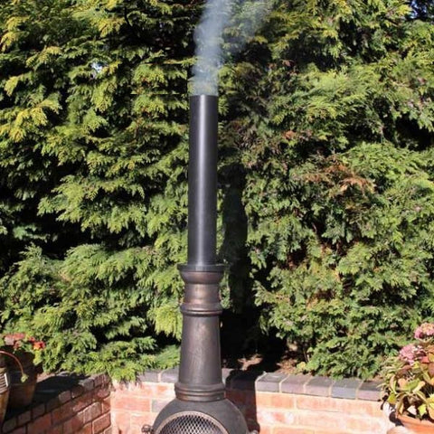 Black Chimney Extension Flue Pipe for Chiminea - Coast & Country Store - 1
