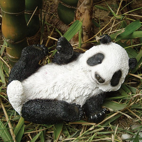 Cute Panda Resin Animal Garden Ornament - Coast & Country Store