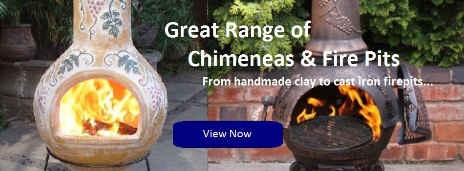 Clay Chimineas - Cast Iron Chimeneas - Fire pits