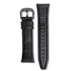 Black Ribbed Strap 24mm