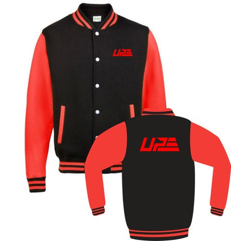 Black and Red UP Varsity Jacket