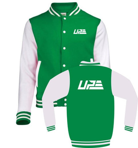 Green and White UP Varsity Jacket