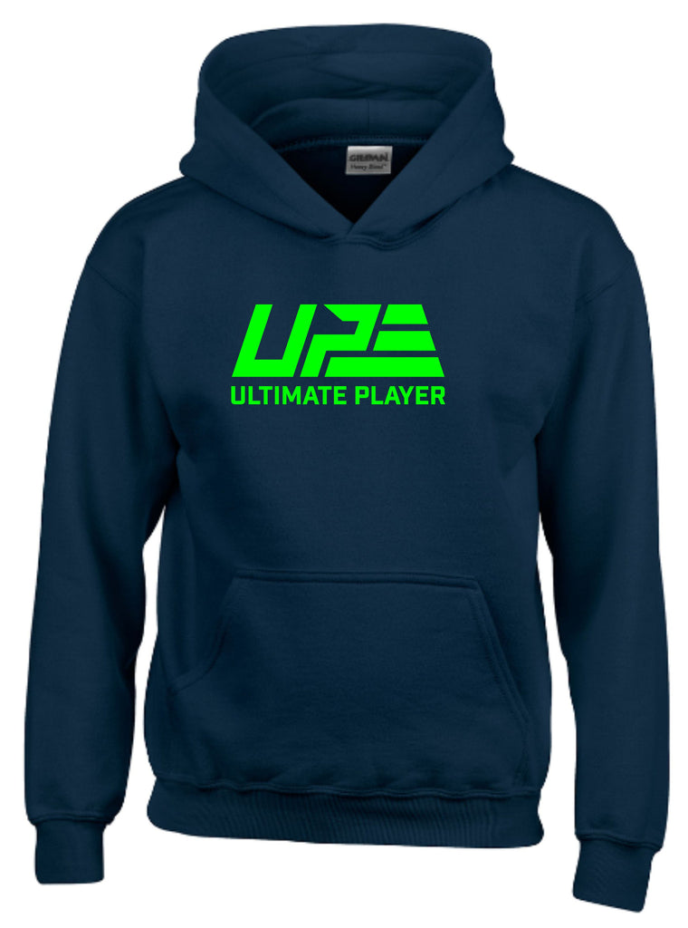 Navy Blue and Fluro Green Hoodie
