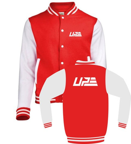 Red and White UP Varsity Jacket