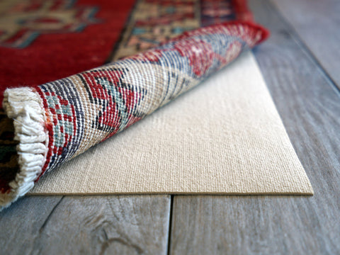 A thin profile, closed weave rug pad is perfectly suited for high end rugs