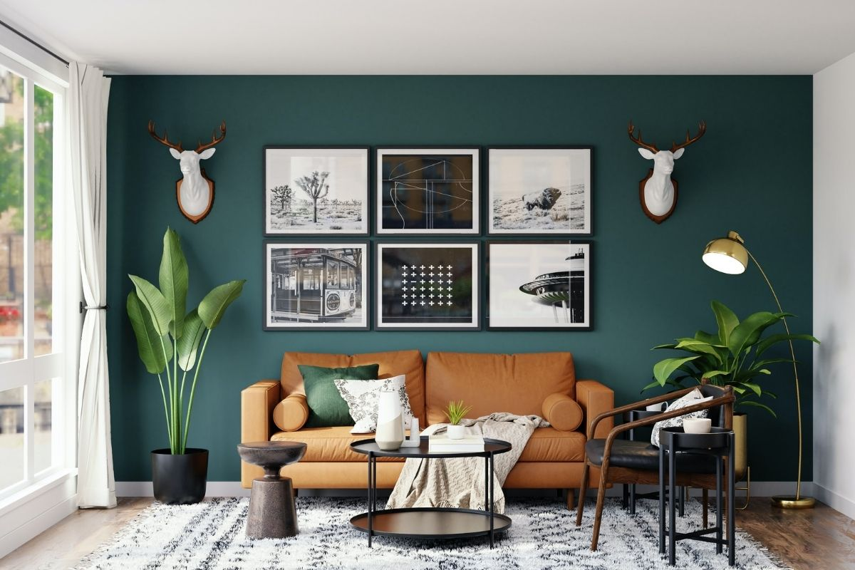 how to style a rug for the living room