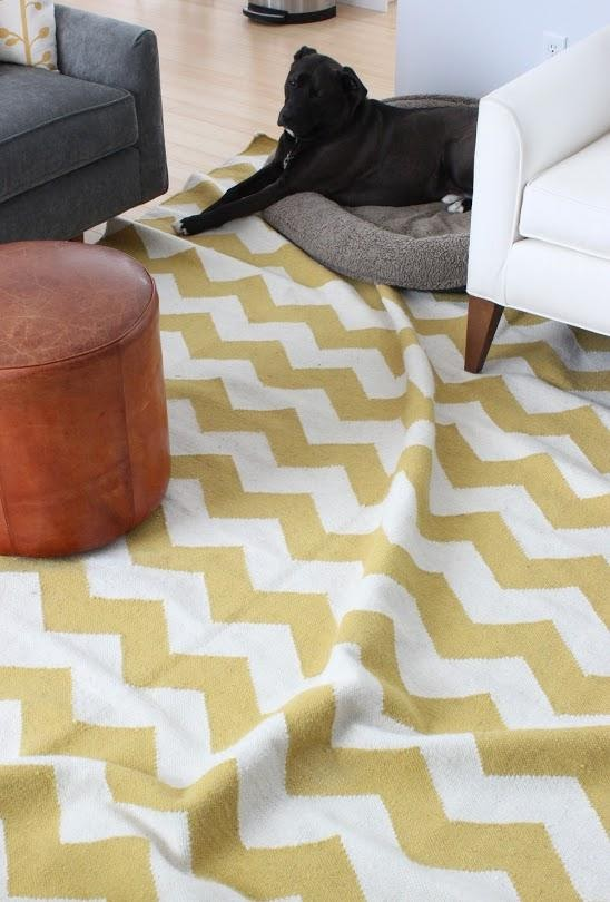 bunched up rug without a rug pad