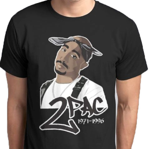 RIP 2PAC Makaveli Rapper Custom Printed t-shirt - ANBRO2 Kuwait Saudi Arabia Qatar Oman Bahrain United Arab Emirates Design Fashion Men Women Print