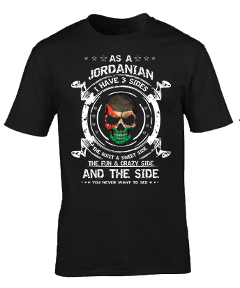 As a Jordanian, I have 3 Sides T-Shirt