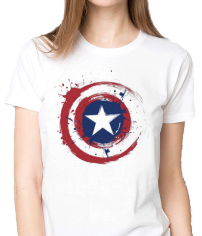 Captain America Logo custom printed t-shirt ANBRO2 Kuwait women fashion superheroes marvel