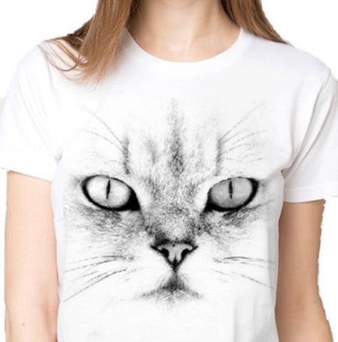 Cute White Kitten T-Shirt