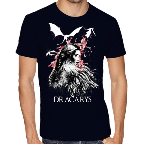 dracarys game of thrones GOT dragon Fashion men women custom printed tshirt t-shirt kuwait united arab emirates apparel clothing