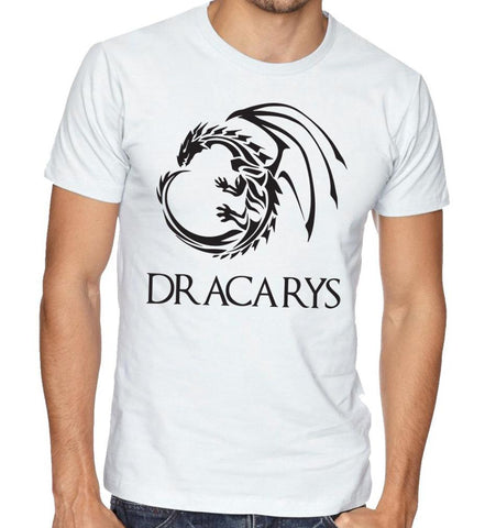 Custom Printed tshorts kuwait dracarys game of thrones GOT fashion men women apparel and clothing