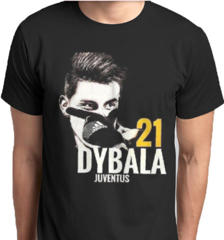 Paulo Dybala Mask 21 Juventus T-Shirt custom printed tshirt and hoodies from anbro2 kuwait sublimation cotton football SerieA Anbro2 kuwait Saudi Arabia Qatar Bahrain Oman United Arab Emirates Hoodies print design fashion